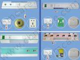 Panneaux médicaux de tête de bâti avec différentes sorties de gaz