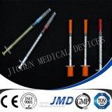 Spritzen des Insulin-1cc
