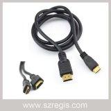 HDMI 19p AV 데이터 케이블에 자기 회전 속도계 연결 텔레비전 남성