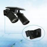 Motion SensorのOne Solar Wall Lightの容易なAdjust 360 Degree Dual Head All