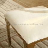 Chaise de salle à manger en inox moderne en banquet