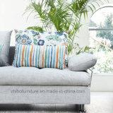 Luz modernos tecido cinzento sofá para sala de estar