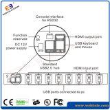 8 Kanäle schwärzen Schalter der Farben-HDMI Kvm