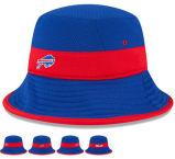 La fabricación profesional 3D de la fábrica de bordados en rojo banda media Bukcet Hat y la tapa