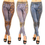 Европе американская женщина одежды брюки Leggings печати