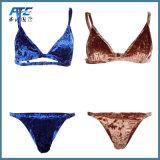 Custom Made 2 pièce Maillot de bain en velours Bikini Bra maillots de bain en velours