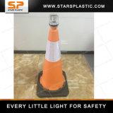 トラフィックの警報灯のための75cmのゴムベースPEのトラフィックの円錐形