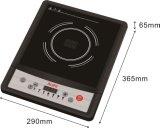 Fornello caldo di induzione elettrica della cucina portatile del pulsante