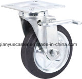 6 Inch Swivel/Brake Highquality Caster mit Steel Core Rubber Caster Wheel, Janpanese Style