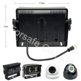 """7 """" Systeem van de Auto van de Monitor van het Scherm van de Vierling Rearview met de Draaibare Camera van de Hoek van de Lens"""