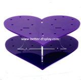 В форме сердца акриловый Lollipop подставка для дисплея