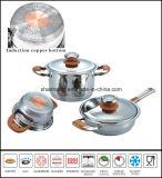 Le cuivre Core Impact bas Jeu de batterie de cuisine en acier inoxydable