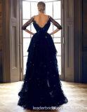 V vestito da sera Ciao-Basso del nero convenzionale degli abiti di promenade del merletto del collare breve Yao128