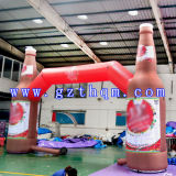 Opblaasbare Boog van het Af:drukken Arch/HD van de Fles van de drank de Opblaasbare