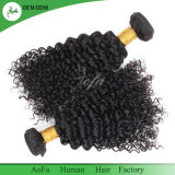 ねじれた巻き毛のための黒いブラジルの人間のRemyの毛のよこ糸