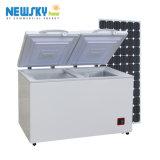 Congelatore solare -18degree della batteria del frigorifero DC12V24V48V del frigorifero portatile del congelatore di CC di potere 408L di Newsky