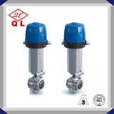 3A Ss304 316 válvula de borboleta pneumática sanitária do aço inoxidável de 1 polegada