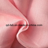 Leinenrayon gefärbtes Gewebe - rosafarbene Farbe (QF13-0759)