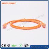 Câble Cat5e 24AWG du câble réseau UTP Patch avec fiche mâle 4paire