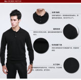 Géneros de punto de la cachemira de la ropa del cuello del suéter de las lanas de los yacs/ropa/suéter redondos de los hombres