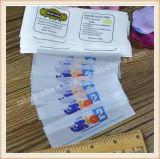 Étiquettes tissées par vêtement tissées par vêtement fait sur commande d'étiquette nommée d'étiquette