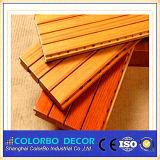 Panneau de mur acoustique de bois de construction en bois insonorisé de cannelure
