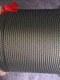 게양을%s Nantong Ungalvanized 철강선 밧줄 6X36sw+FC/Iwrc A2