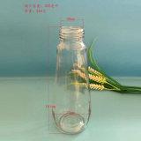 420ml Queenlineのプラスチックふたが付いているカスタムガラス蜂蜜のびん