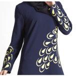 Hülsen-Kleid-Moslems der Frauen kleiden lange islamische Kleidung