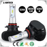 차 바디 장비와 LED Tali 램프를 가진 H4 LED 헤드라이트 8000lm 자동차 부속용품