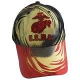 Красные бейсбольные кепки с славным логосом Gj1774