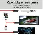 Malla de nylon de 8 clavijas a HDTV Cable adaptador para el iPhone