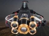 Факел супер яркой фары 5 СИД Zoomable водоустойчивый головной