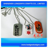 Kundenspezifische MetallGroßhandelshundeplakette mit Kugel-Kette