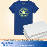 Tamaño A4 Color de luz Laser-Jet Papel de transferencia de calor para T-Shirt