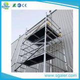 Torre de aluminio de levantamiento multiusos del móvil del andamio
