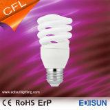 A poupança de energia meio cheio de luz em espiral E27 lâmpadas CFL