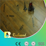 Commrcial 8.3mm Pérola Walnut V-Grooved Waxed Edged Laminate Floor