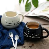 Do projeto creativo fino do gato da caneca da dolomite da porcelana do presente caneca de café cerâmica