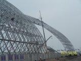edificio elegante del almacén del braguero del espacio de estructura de acero del diseño del palmo del 120m
