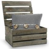 La caja de madera de estilo rústico estilo country Caja de almacenamiento con tapa