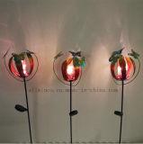 El Arte de Hierro Solar lámpara de flor de mariposa