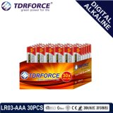 China 1,5V fabricação de pilhas secas alcalinas Primário Digital (LR03-AAA 30PCS)