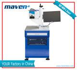 Verteiler wünschte Faser-/CO2/UV ökonomische Laser-Tischplattenmarkierung/Gravierfräsmaschine für Metal&Non-Metallmaterialien 2 Jahre Garantie-