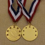 Medalha 2016 personalizada fonte do rugby do ouro do metal da fábrica