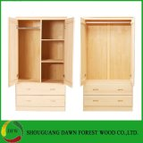 تصميم بسيط خشبيّة خزانة منزل خزانة ثوب