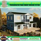 Edificio ligero prefabricado de la estructura de acero del almacén casero prefabricado fuerte comprable