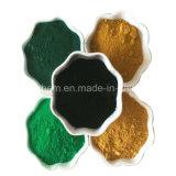 El óxido de hierro (rojo/verde/negro/azul/amarillo)