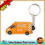 Kundenspezifische Karikatur weiche Belüftung-Schlüsselkette, Gummischlüsselring (TH-PVC9140)