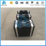 容易なハンドル様式は黒いしまのあるABSアルミニウム工具箱を運ぶ